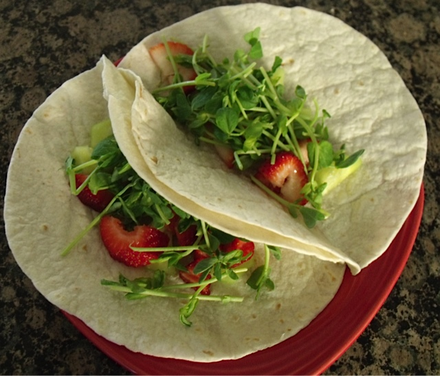 strawberry cucumber wrap