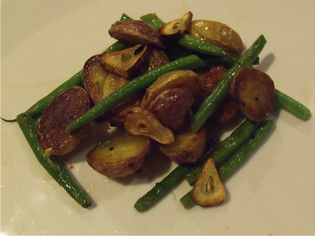 PeeWee Potatoes and French Beans