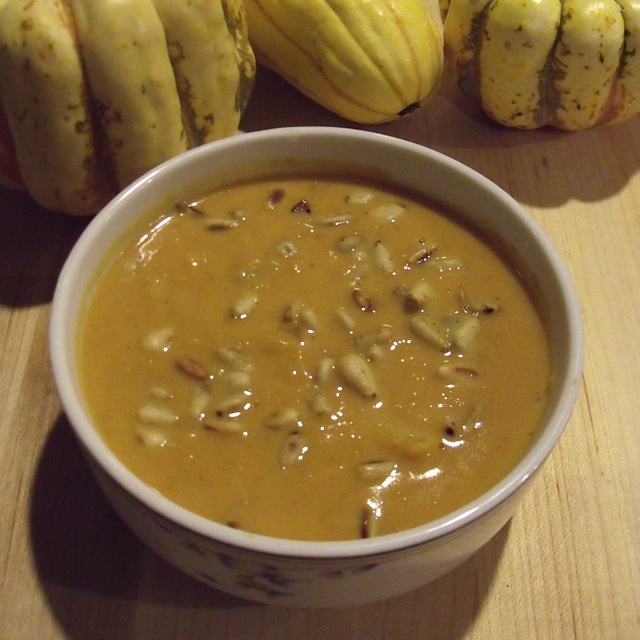 Pumpkin Soup with Toasted Pine Nuts