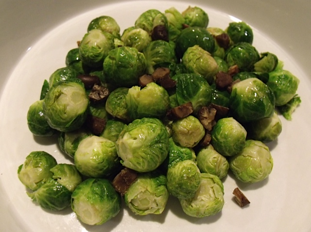 brussels sprouts with toasted chestnuts
