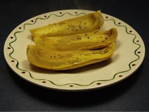 Roasted Winter Squash with Garlic Oil