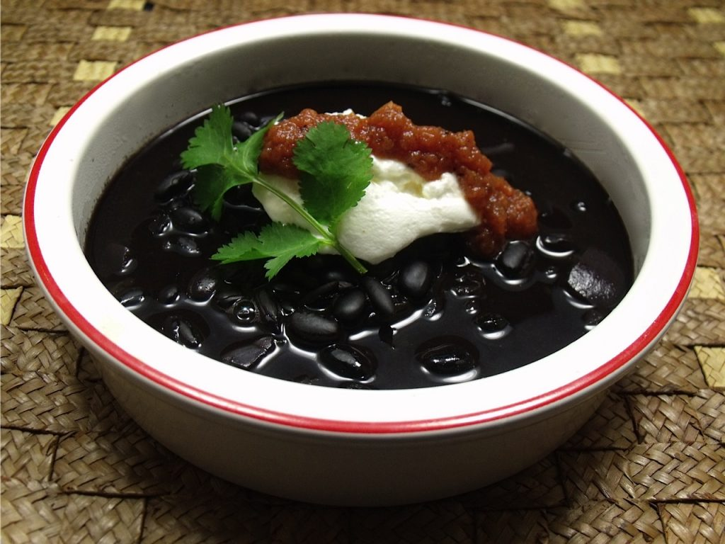 Black Bean Soup Made with Guinness Stout | Mama Likes To Cook