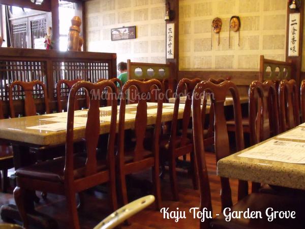Kaju tofu restaurant garden grove ca mama likes to cook for Korean restaurant garden grove