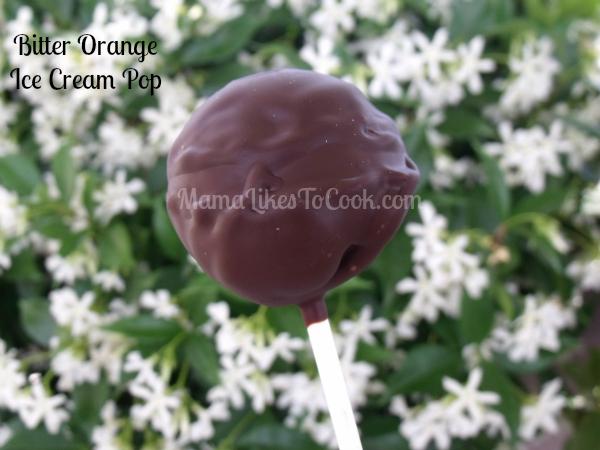 chocolate orange ice cream pop