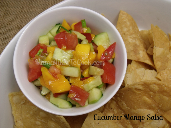 cucumber mango salsa and chips