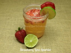 strawberry lime sparkling beverage