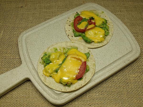 vegtarian soft tacos
