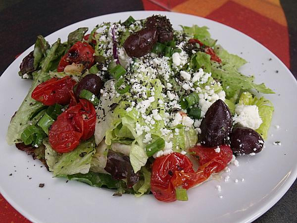 salad at SPIN! Pizza
