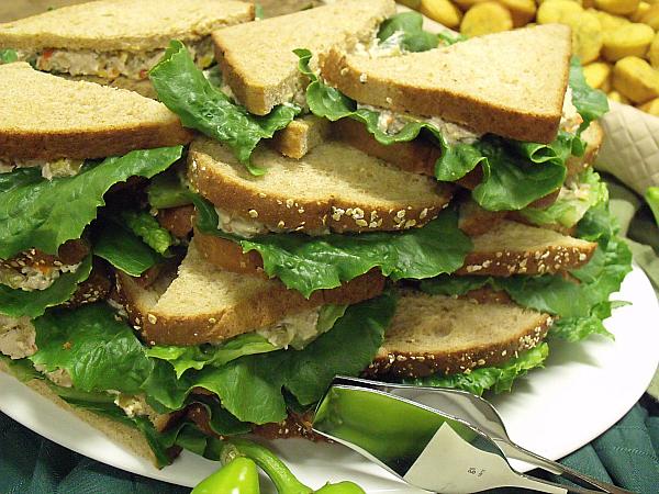 Hatch Chile Chicken Salad Sandwiches