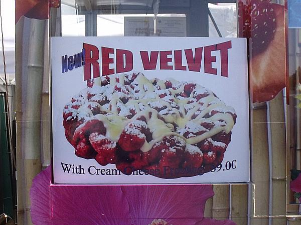 OC Fair Red Velvet Funnel Cake