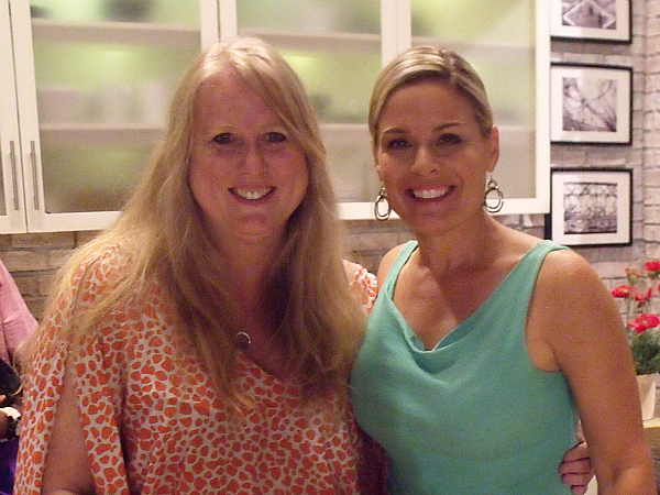 With Chef Cat Cora on the set of The Talk