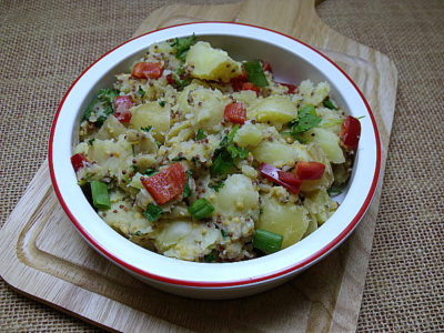 mustard potato salad vegan side dish