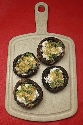 Goat Cheese Stuffed Portobello Mushrooms