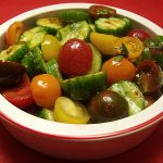 Heirloom Tomato Salad with a Hatch Chile Kick