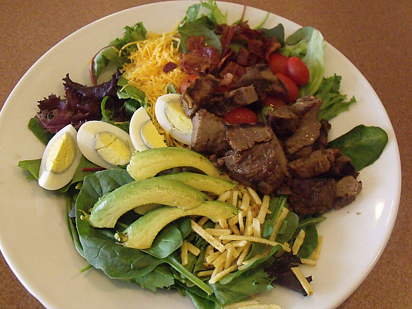 Denny's Prime Rib Cobb Salad