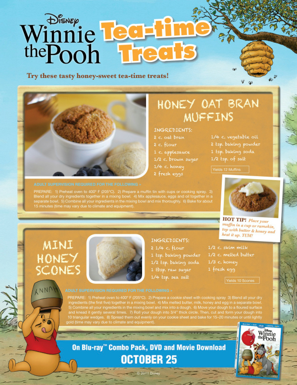 Winnie the Pooh Tea-Time Muffins and Scones