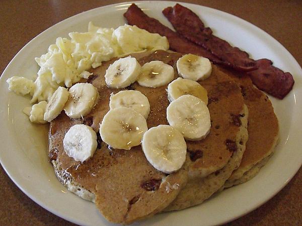 Denny's Banana Pecan Pancake Breakfast