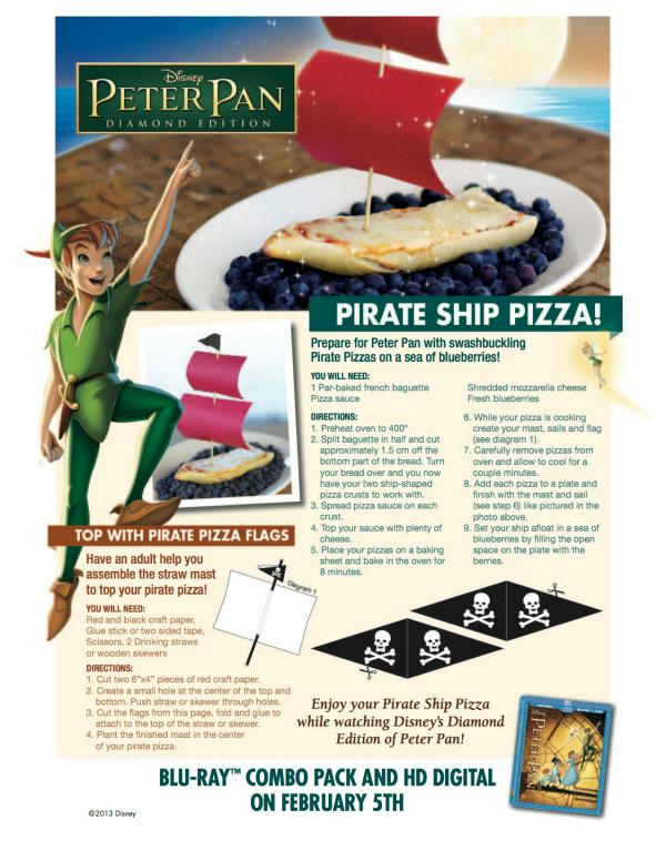 Disney Peter Pan Pirate Ship Pizza