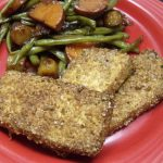 Easy Vegetarian Dinner – Breaded Baked Tofu