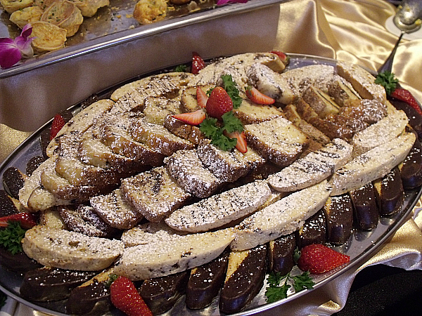 Assorted Biscotti and Assorted Sweet Breakfast Breads