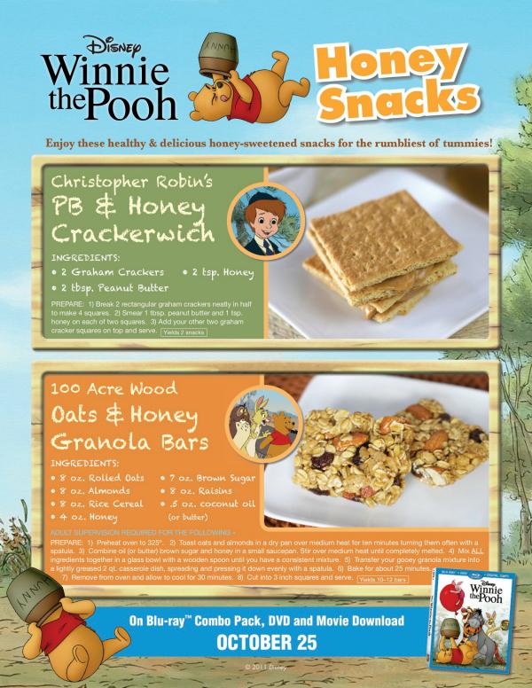 Winnie the Pooh Honey Snack Recipes