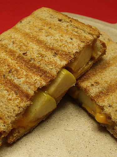 Grilled Cheese Apple Panini