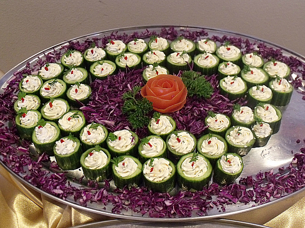 English Cucumbers Filled with Boursin Cheese
