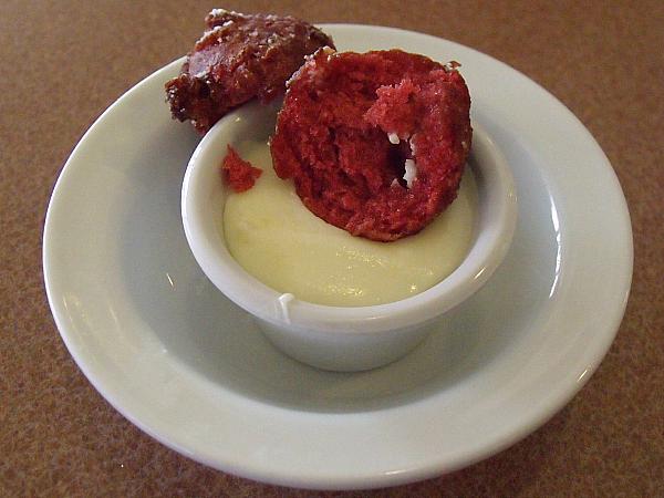 Radagast's Red Velvet Pancake Puppies