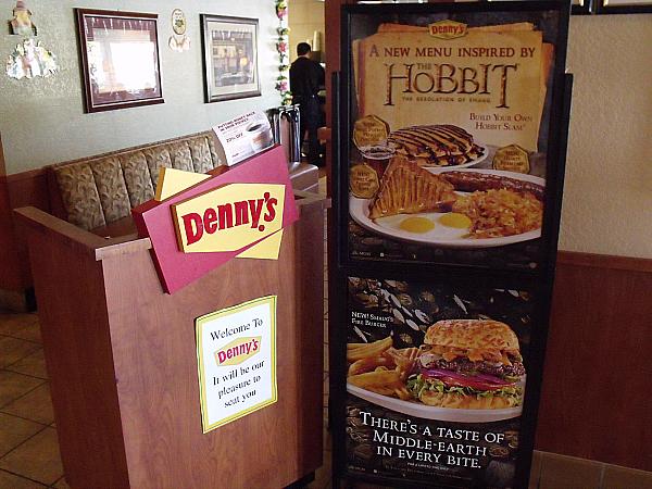 The Hobbit Inspired Menu at Denny's