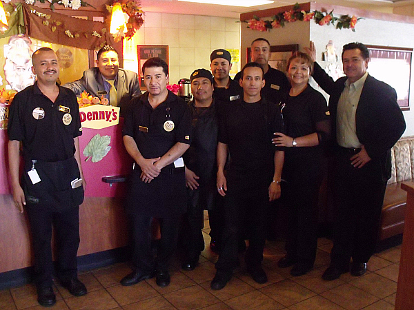 Staff at the Lake Forest, CA Denny's