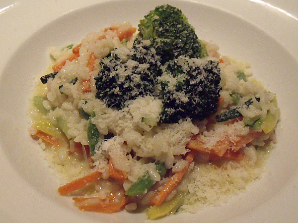 Vegetarian Risotto at Antonello Ristorante
