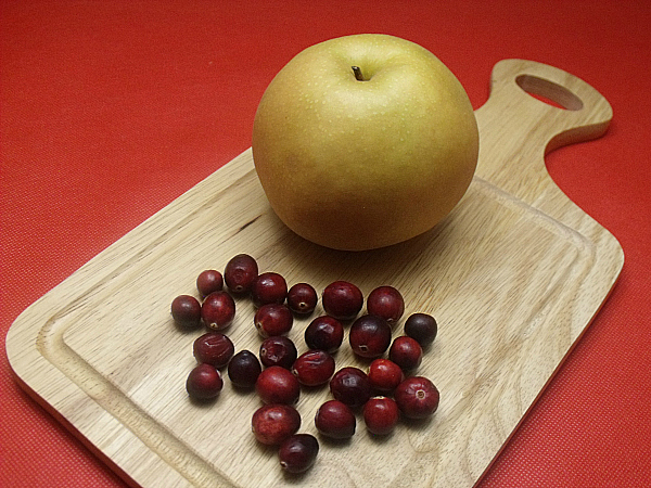 Korean Pear and Cranberries
