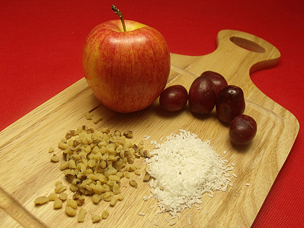 Apple Coconut Waldorf Salad Ingredients