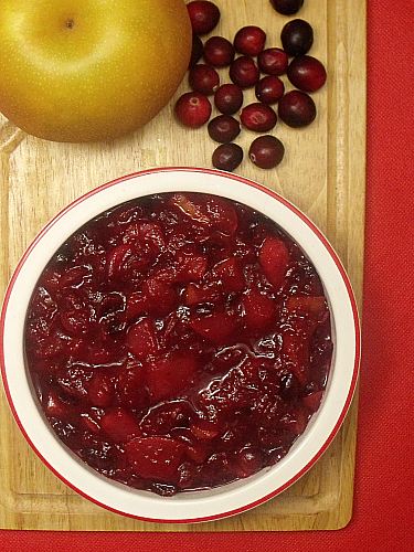 Korean Pear Cranberry Sauce