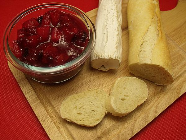 Cranberry Brie Bruschetta Ingredients
