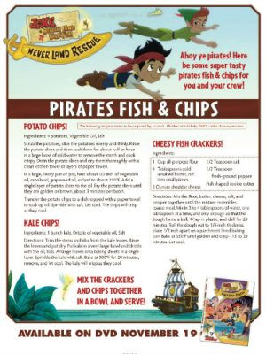 Disney Jake and the Neverland Pirates Recipe – Pirates Fish & Chips