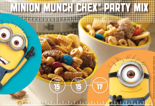 Despicable Me 2 Minion Munch Chex Party Mix Recipe Mama