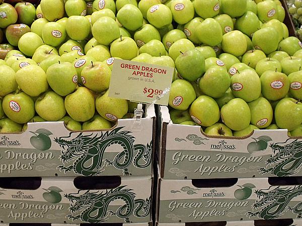 Melissa's Green Dragon Apples at Gelson's Long Beach