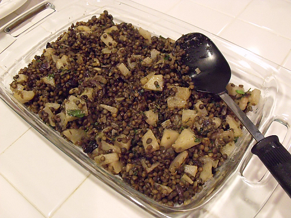 Vegetarian Lentils with Pears