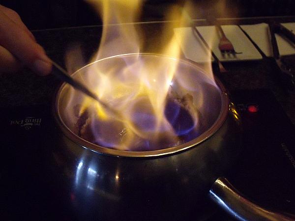 Flaming Turtle Fondue