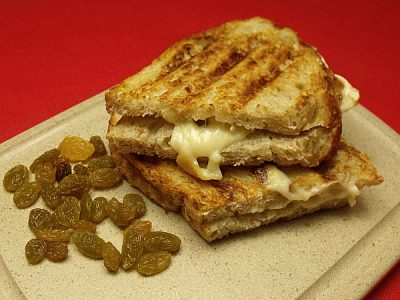 Grilled Cheese Panini with Brie and Golden Raisins