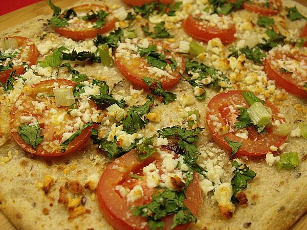 Vegetarian Cotija Cheese Flatbread Pizza
