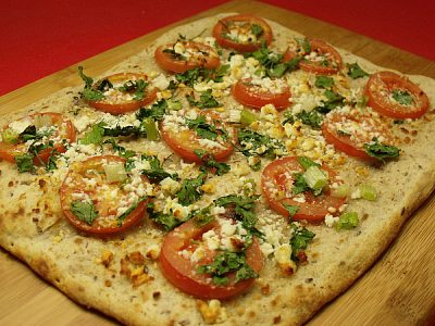 Vegetarian Cotija Cheese Flatbread Pizza