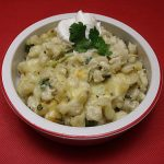 Vegetarian Hominy con Queso