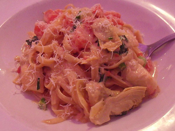 Pasta at Trevi Italian Restaurant - Forum Shops at Caesars Palace - Las Vegas