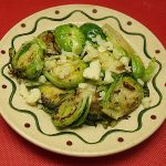 Brussels Sprouts with Asiago Cheese
