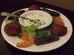 Vegetarian Plate at Cafe Matinee Lebanese Cuisine - Lake Forest, California