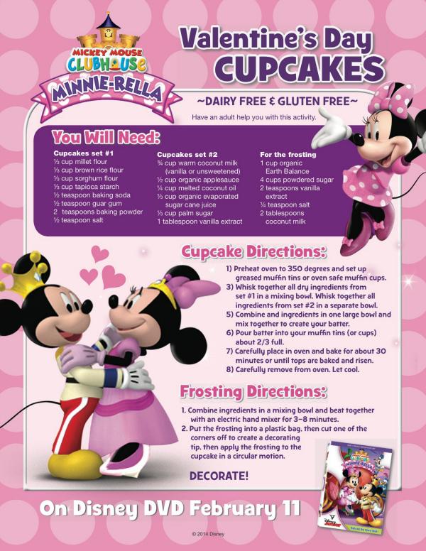 Minnie Mouse Gluten-free Valentine's Day Cupcakes