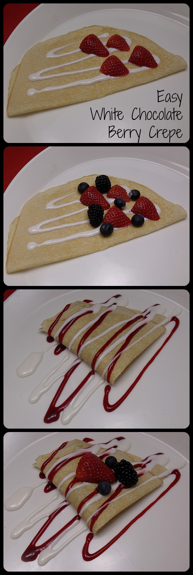 Easy White Chocolate Berry Crepes