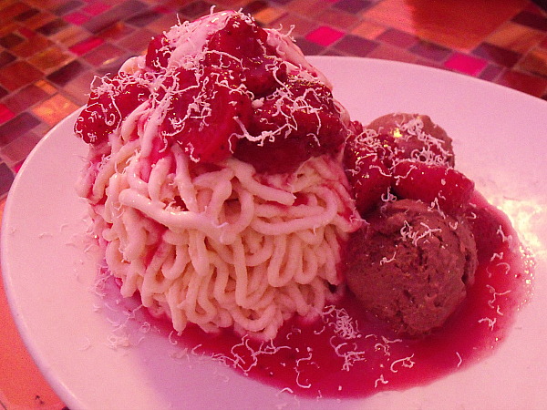 Spagetti Ice at Trevi Italian Restaurant - Forum Shops at Caesars Palace - Las Vegas